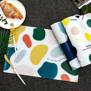 北欧pvc餐垫防水防油桌垫餐垫隔热餐垫ins风餐垫隔热垫防烫餐垫子