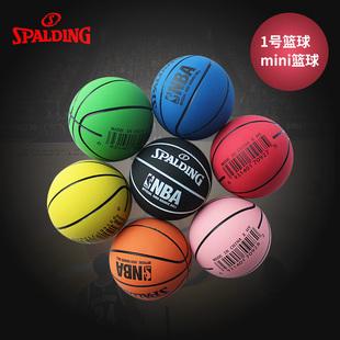 斯伯丁高弹力迷你小篮球空心橡胶儿童玩具礼品小皮球nba logo系列