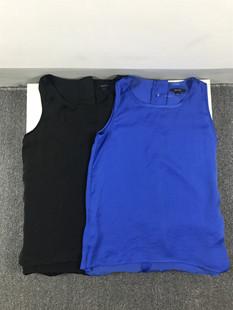 瑕疵外贸童装女童无袖前短后长衬衫夏装可亲子新款