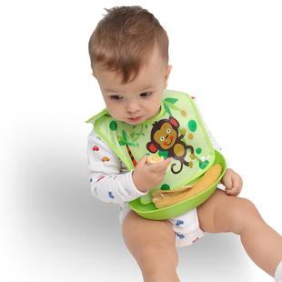小孩子吃饭围兜防水防油衣用餐喂婴儿卡通口水用的洋气可爱衣兜