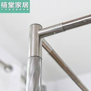 可伸缩 蚊帐不锈钢支架杆子1.5m家用加粗厚宫廷落地 金属三通配件