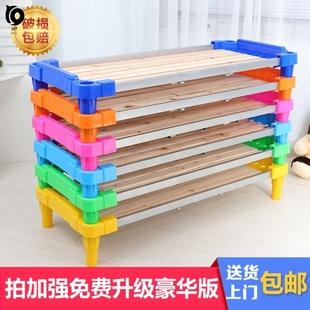 睡觉床铺托儿所塑料幼儿园床小孩子午睡床幼托小学生辅导班重叠