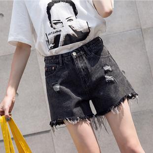 微胖女生穿搭大码女装新款2020年夏季胖妹妹夏装显瘦阔腿牛仔短裤