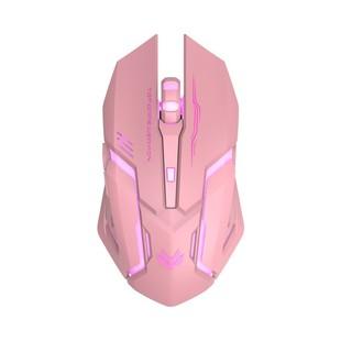 无线鼠标女生可爱静音无声可充电粉色东芝神舟华硕笔记本电脑