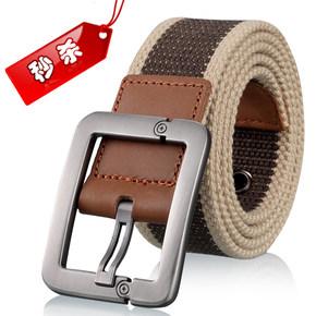 时尚休闲帆布皮带