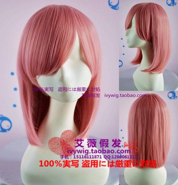 Аксессуары для косплея Avril wig 40CM PUNK/lolita mcoser 70cm 60cm long pink and blue mixed beautiful lolita wig anime wig