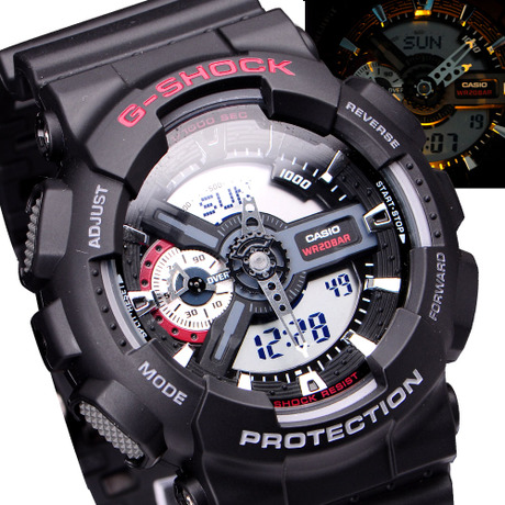 Часы CASIO  Shock G-SHOCK GA-110-1A часы casio g shock ga 110mb 1a black