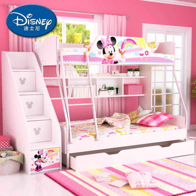 酷漫居迪士尼子母床高低床米奇
