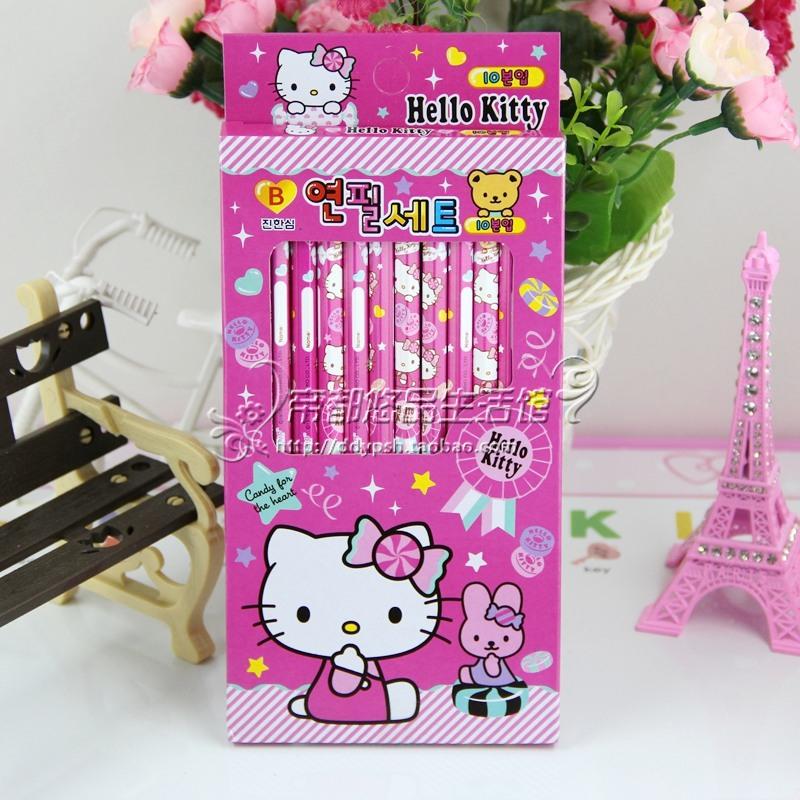 Набор карандашей Hello kitty 10p игровые наборы hello kitty игровой набор глобус
