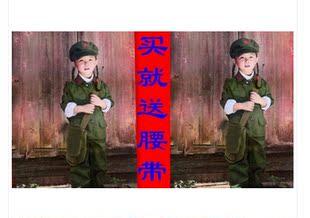 幼儿园 小红军儿童摄影服饰绿军装表演服男孩小女兵演出服装批发