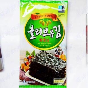 特价韩国海苔如松大张海苔济州岛特产橄榄油烤海苔烤紫菜 20克