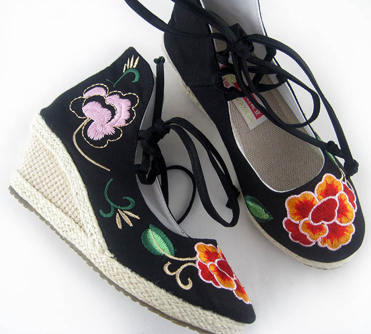 туфли Small garden blessing card embroidered shoes B/837 B-837 in garden мармелад 10