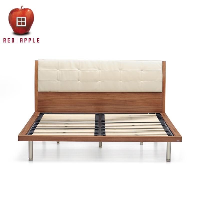 红苹果双人板式皮靠床R802-P6