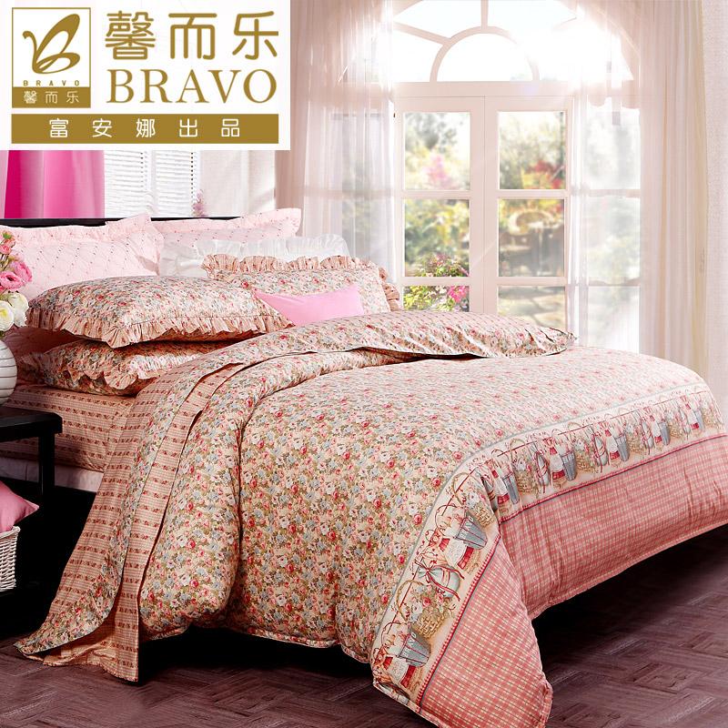 富安娜家纺馨而乐纯棉床单四件套
