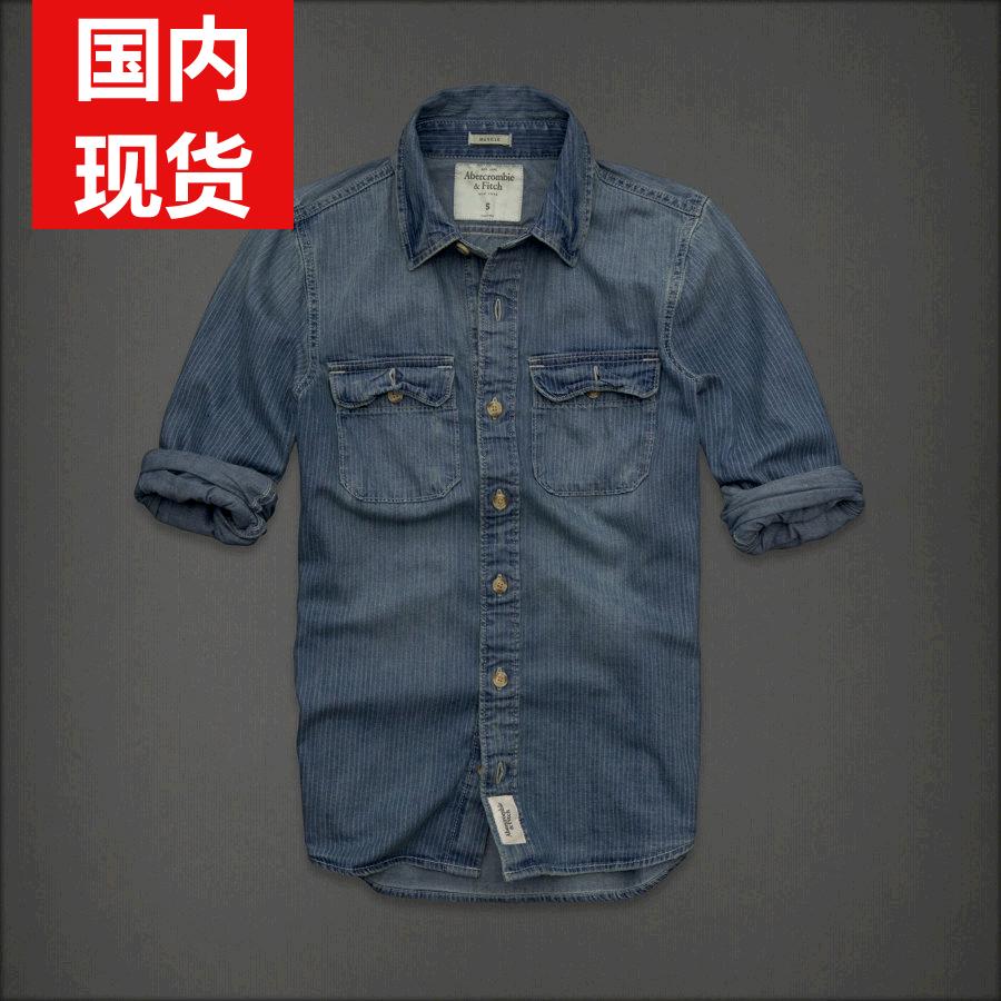 Рубашка мужская Abercrombie & fitch  AF футболка мужская abercrombie