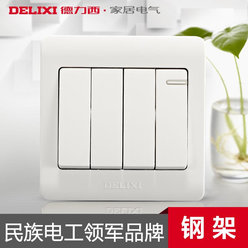 Выключатель одноклавишный Delixi выключатель одноклавишный legrandquteo о у влагозащищенный ip 44 белый