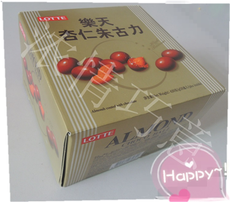 Lotte ALMOND CHOCO BALL 42g*10 420 lotte 56%