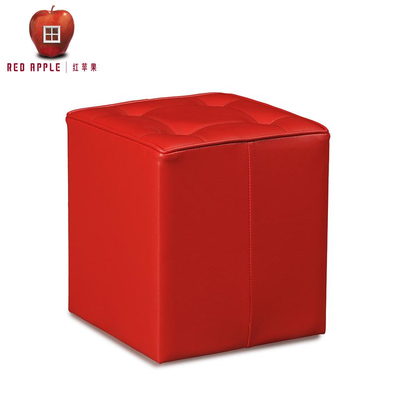 红苹果家具红色小妆凳R453