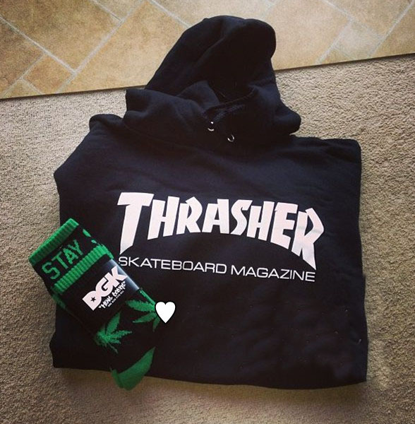 Толстовка Thrasher  Hiphop thrasher бейсболка thrasher skategoat mesh black grey