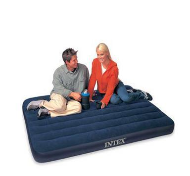 надувная кровать Передачи насоса подлинной Intex twin голубой стекались воздуха кровать надувной матрас воздуха 68758