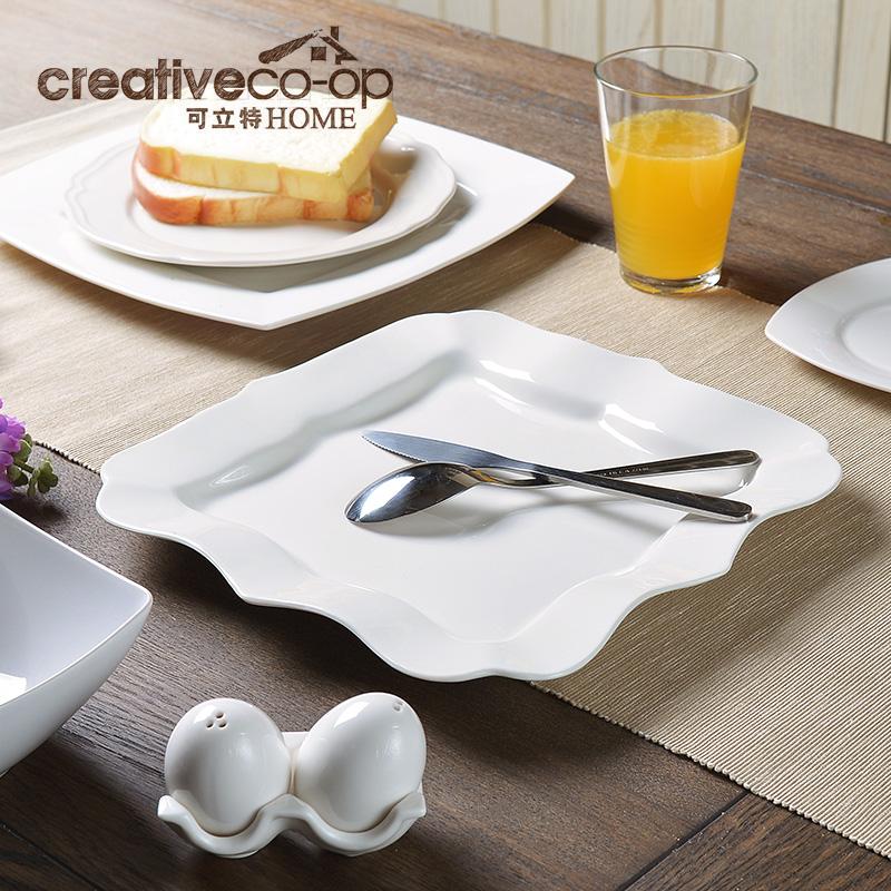 可立特白色陶瓷餐盘HB2006L