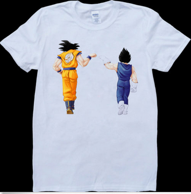 Футболка мужская Dragon Ball Anime Son Goku And Vegeta