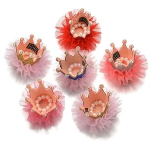 儿童头饰品公主宝宝发夹女童珍珠小皇冠发夹女孩发卡夹子发饰韩国