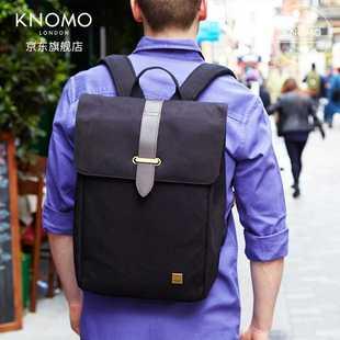 【店长推荐】Knomo falmouth复古学院风男士双肩包15寸多功能电脑