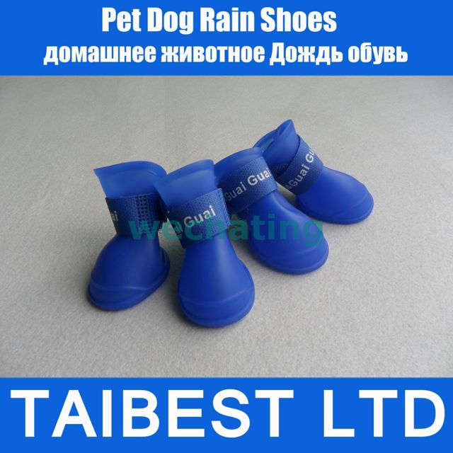 Мебельная фурнитура Waterproof Pet Dog Shoes Protective Rubber Rain Boots Booti pet attire sparkles dog collar 8 12in pink