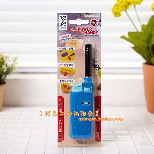 Зажигалка для газовых плит Южная Корея импорта огнестрельного оружия надувные Мини Портативный барбекю огонь руля алкоголя газ для зажигалок