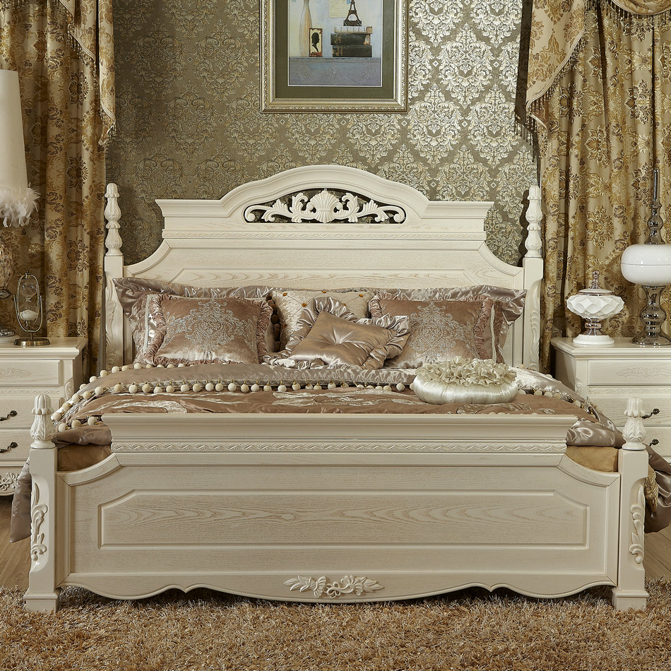 Кровать из массива дерева Wzzj  1.8 кровать из массива дерева xuan elegance furniture