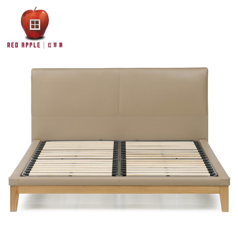 红苹果排骨架板式双人床D8805