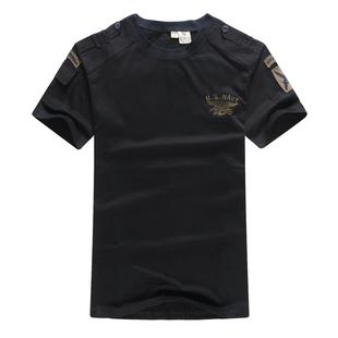 户外服饰迷彩军迷t恤男夏季特种兵海豹突击队短袖宽松圆领战术t恤