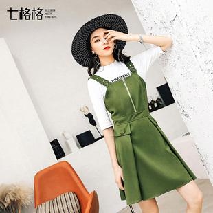 吊带连衣裙春装新款女士韩版秋冬显瘦时尚修身气质背带短裙子