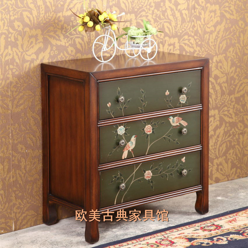 Комод European and American antique furniture [haotian vegetarian] ming and qing antique furniture fittings copper box kits corner cabinet fittings htg 013