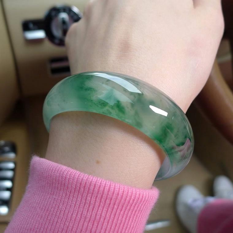 Купить со скидкой Браслет Burmese Jadeite jade stl038