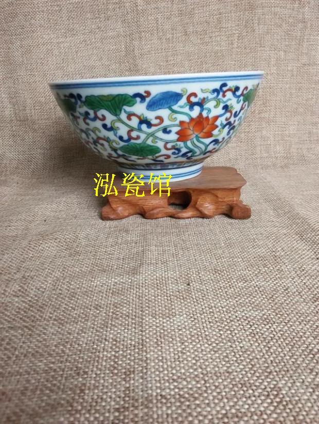 Чаша Цзиндэчжэнь ручная роспись фарфора бело голубой фарфор синий и белый фарфор товаров культурной революции doucai завернутый Lotus оформлены чаши чаши суп