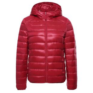 雪中飞2020反季轻薄羽绒服女韩版连帽短款宽松运动休闲保暖外套