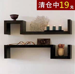 墙上置物架创意格子隔板搁板壁挂墙上书架卧室客厅简约现代装饰架