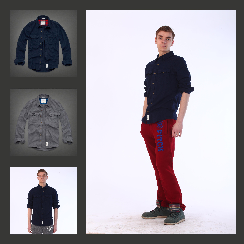 Рубашка мужская Abercrombie & fitch 2222 Abercrombie Fitch Af футболка мужская abercrombie