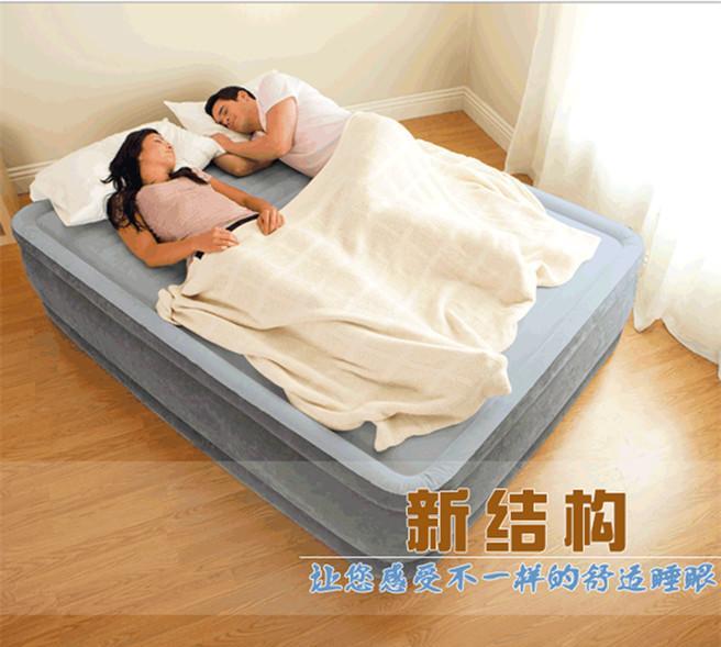 надувная кровать Intex кровать надувная двуспальная intex со встроенным насосом 220в 64436