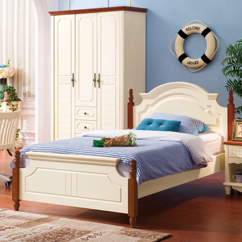 Кровать из массива дерева First love home furniture  1.2 кровать из массива дерева xuan elegance furniture