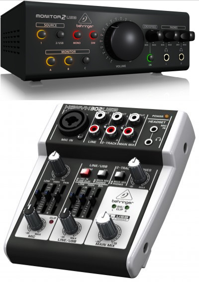 Микшерный пульт   BEHRINGER 302USB/MONITOR2USB колонка behringer digital monitor speakers ms20