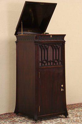 Граммофон Покупка американских античный фонограф Винил Винтаж Эдисон алмазный диск запись машины 1920