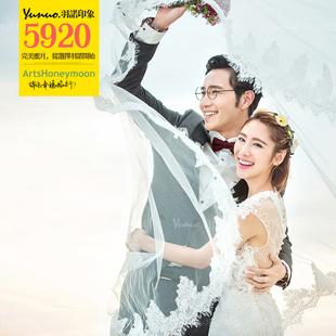 三亚婚纱摄影工作室 海景婚纱照团购 羽诺印象婚纱旅游拍摄