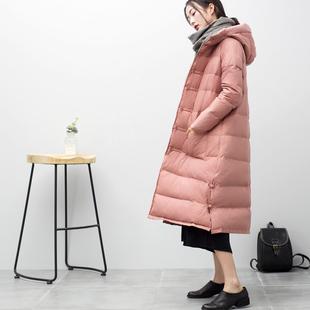 羽绒服女2017冬装新款中长款过膝加厚加长斗篷复古韩国宽松外套潮