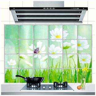 廚房防油貼紙耐高溫瓷磚自粘牆貼櫥櫃竈台用吸油煙機台面防水壁紙