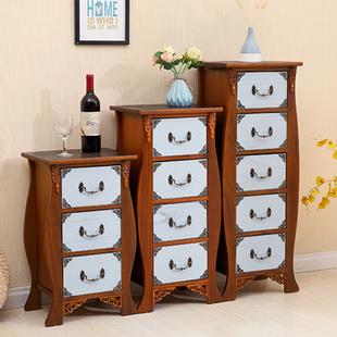 美式复古斗柜实木雕花