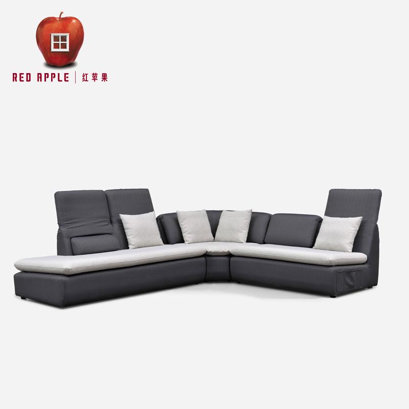 红苹果家具布艺沙发多人组合AP2109