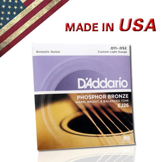 Струны для гитар D'Addario Addario/EJ26 11-52